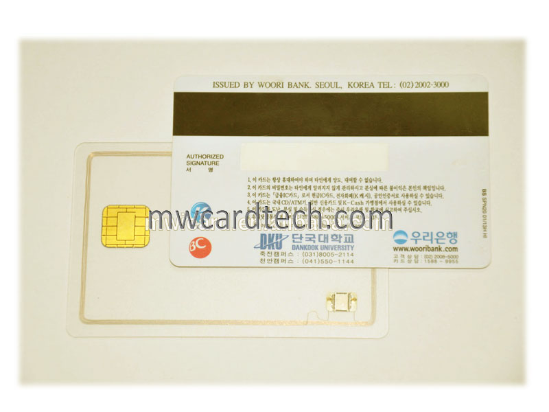 Contactless RFID card+magnetic stripe combine card