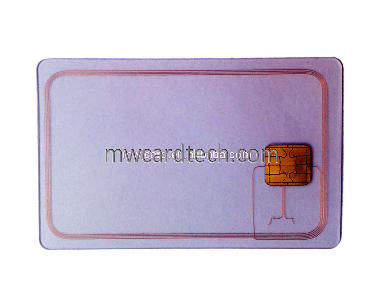 Dual interface Chip smart Card