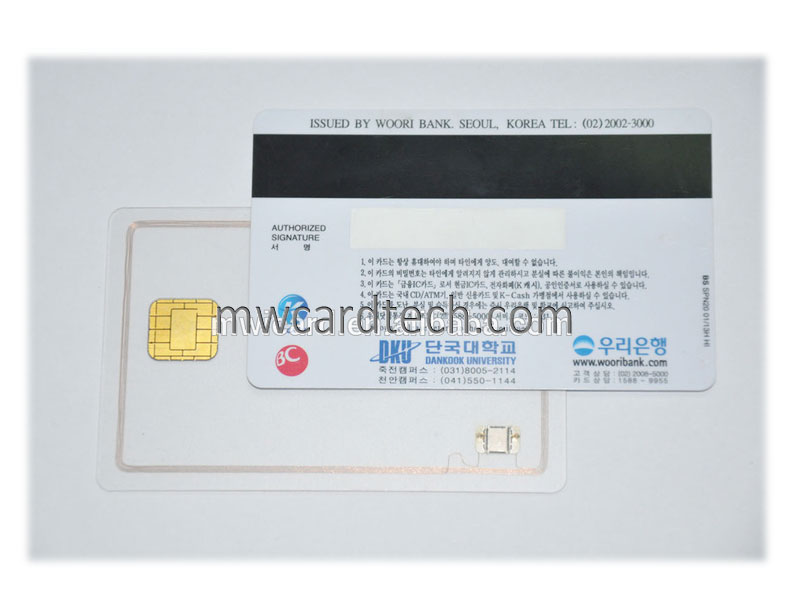 Multi Function PVC Dual Interface Rfid Smart Card