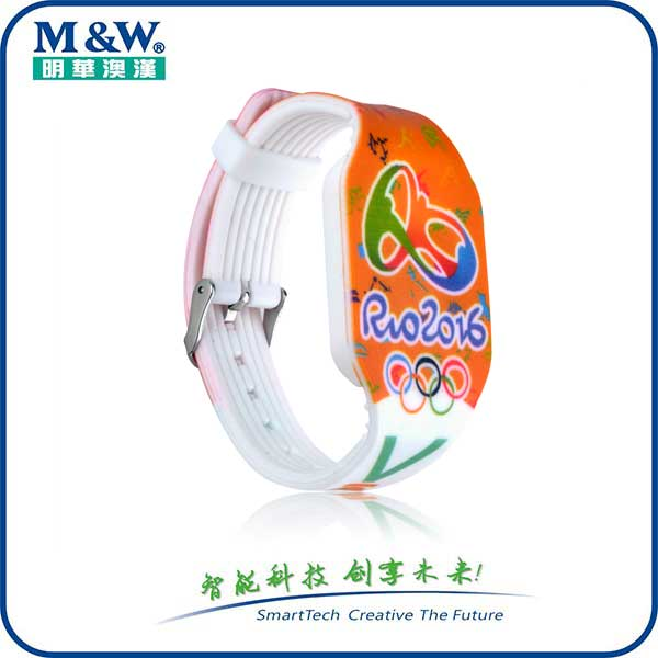 Multicolour Silicone Wristbands MWGD1705 RFID card