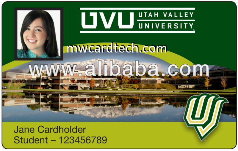 PVC ID card maker school id card blank/printing
