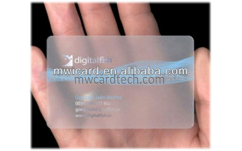 Transparent inkjet pvc card business card Eco-friendly material